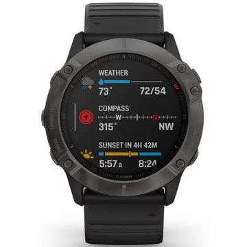 Garmin Fenix 6X PRO Sapphire Multisport GPS Smart Watch - Carbon Grey/Black