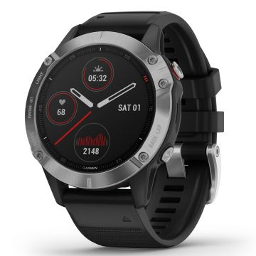 Garmin Fenix 6 Multisport GPS Smart Watch - Silver/Black