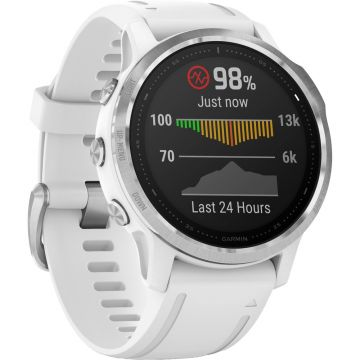 Garmin Fenix 6S Multisport GPS Smart Watch - Silver/White