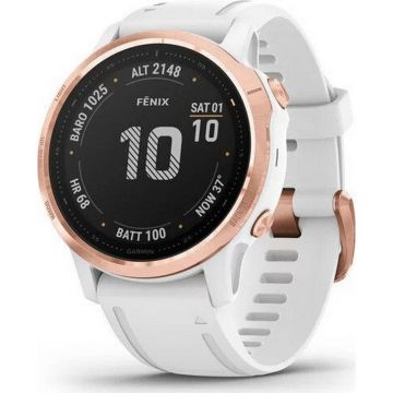Garmin Fenix 6S PRO Multisport GPS Smart Watch - Rose Gold/White