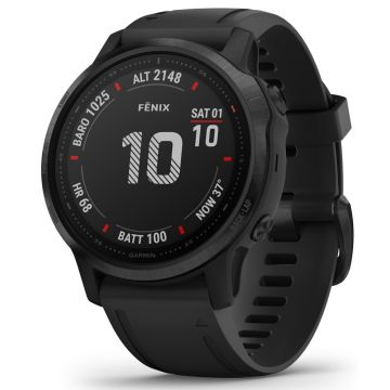 Garmin Fenix 6S PRO Multisport GPS Smart Watch - Black