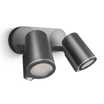 Steinel Spot Duo Wall Light Sensor Connect Version, 2 x 7W, Anthracite