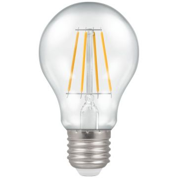 Crompton LED Classic GLS Filament Bulb, E27, 7.5W, Dimmable, Warm White, Clear Glass