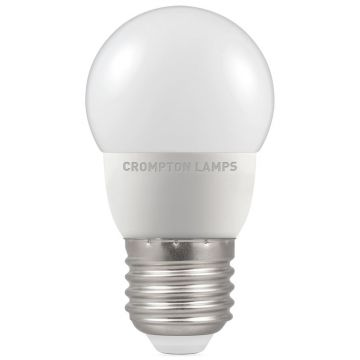 Crompton LED Thermal Plastic Golf Ball Bulb, E27, 5.5W Non-Dimmable, Daylight, Opal