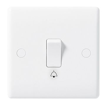 BG Nexus White Moulded 10A Bell Push Switch