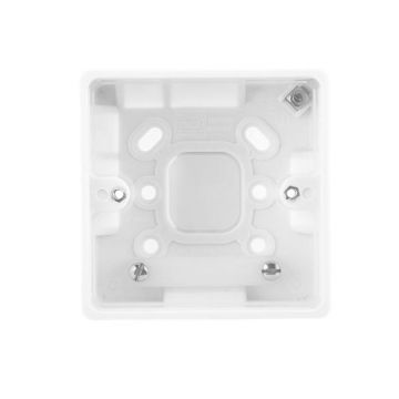 BG Nexus White Moulded 1 Gang Square Surface Box, 50mm