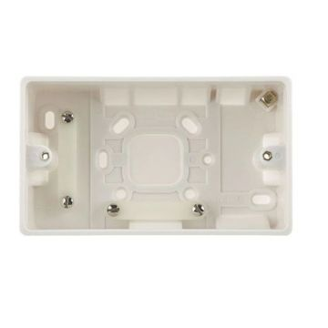 BG Nexus White Moulded 2 Gang Square Surface Box, 50mm