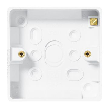 BG Nexus White Moulded 1 Gang Square Surface Box, 19mm