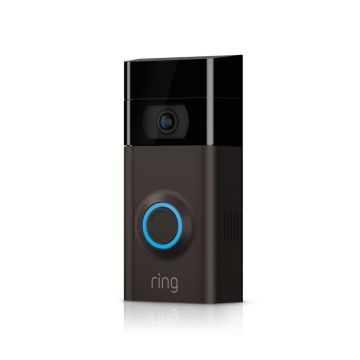 Ring Video Doorbell V2 in Venetian Bronze with Free KitSound Wireless Earbuds