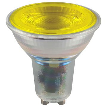 Crompton LED Coloured Glass SMD, 4.5W, Yellow, GU10