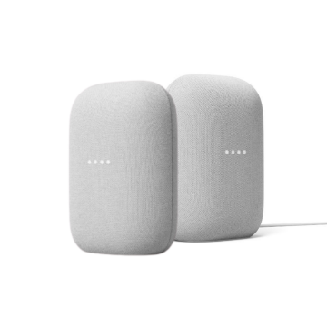 Google Nest Audio, Chalk - TWIN PACK