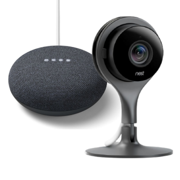 Nest® Cam Security Camera - Internal & Google Nest Mini (2nd Gen) - Charcoal Bundle
