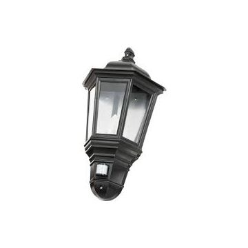 Timeguard LED PIR Half Carriage Lantern, 4W, Black