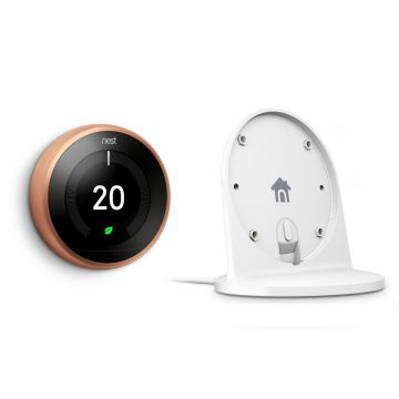 Google Nest® Learning Thermostat & Stand Special Offer - 3rd Generation, Copper