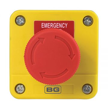 BG Industrial Emergency Stop Switch, 40mm