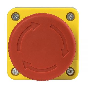 BG Industrial Emergency Stop Switch, Mushroom Head, 60mm