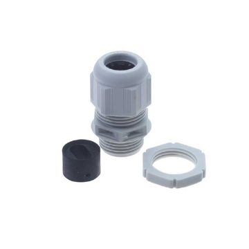 BG Nylon Gland Kit, For 1-1.5mm Flat Cable, Grey