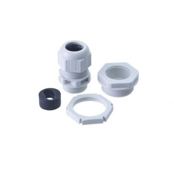 BG Nylon Gland Kit, For 6mm Flat Cable, Grey
