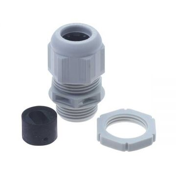 BG Nylon Gland Kit, For 10-16mm Flat Cable, Grey