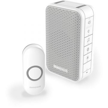 Honeywell Home Series 3 Wireless Portable Doorbell Kit with Halo Light, White