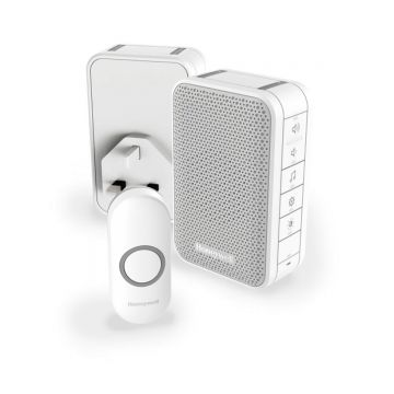 Honeywell Home Series 3 Wireless Portable and Plug-in Doorbell Kit, White