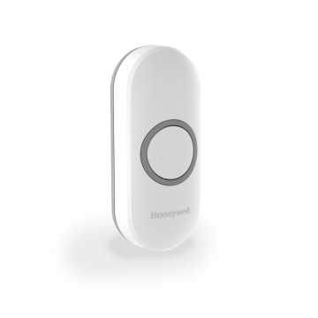 Honeywell Home Wireless Push Button with LED Confidence Light, White