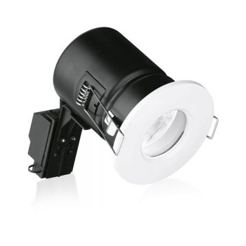 Enlite GU10 Bath & Shower, Fixed Position, Fire Rated Downlight, White