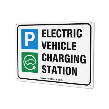 Rolec EVPS0010 A4 Electrical Vehicle Charging Station Sign