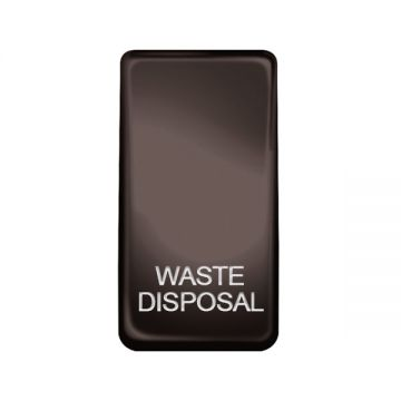Nexus Grid Rocker, Printed 'Waste Disposal', Black Nickel