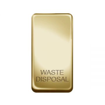 Nexus Grid Rocker, Printed 'Waste Disposal', Polished Brass