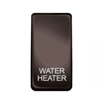 Nexus Grid Rocker, Printed 'Water Heater', Black Nickel