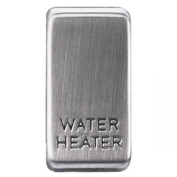 Nexus Grid Rocker, Printed 'Water Heater', Brushed Steel