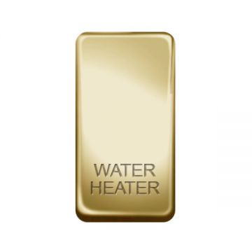 Nexus Grid Rocker, Printed 'Water Heater', Polished Brass