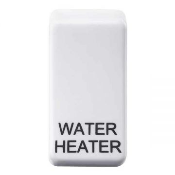 Nexus Grid Rocker, Printed 'Water Heater', White