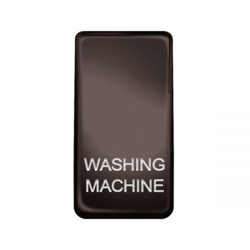 Nexus Grid Rocker, Printed 'Washing Machine', Black Nickel
