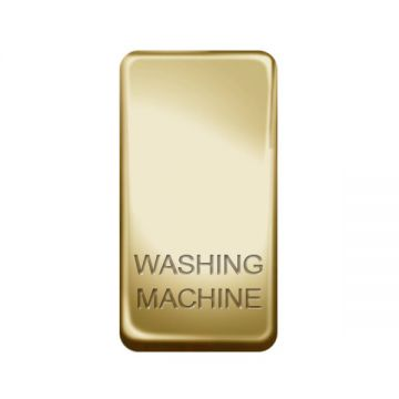 Nexus Grid Rocker, Printed 'Washing Machine', Polished Brass