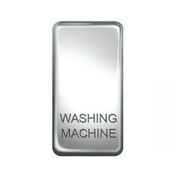 Nexus Grid Rocker, Printed 'Washing Machine', Polished Chrome