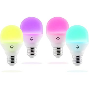 LIFX LED Compact E27 Mini Bulb, Tuneable, 9W, RGBSW Warm/Cool White - PACK OF 4