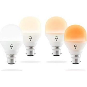LIFX LED Mini B22 Bulb, Dimmable, 8W, Day and Dusk White - PACK OF 4