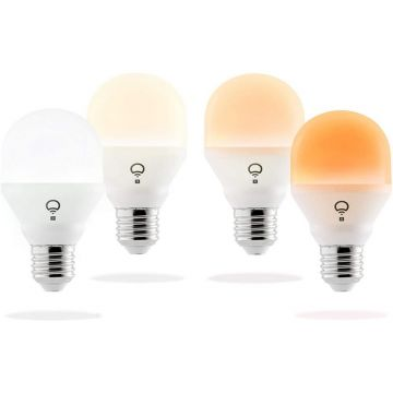 LIFX LED Mini E27 Bulb, Dimmable, 8W, Day and Dusk White - PACK OF 4