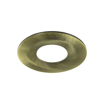 Integral Bezel for Fire Rated Downlight, Antique Brass