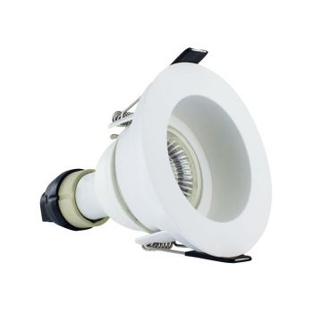 Integral LED Evofire GU10, IP65 Fire Rated Recessed Downlight, Matt White