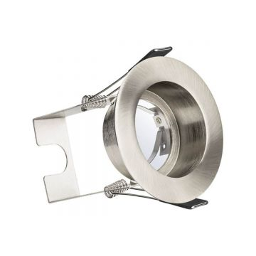 Integral LED Evofire GU10, IP65 Fire Rated Recessed Downlight & Insulation Guard, Satin Nickel