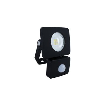 Integral LED 10W PIR Floodlight, IP64, Black