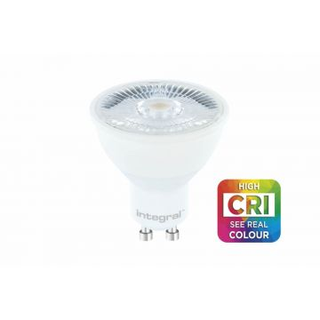 Integral GU10 Spotlight, Dimmable, 7W, Warm White