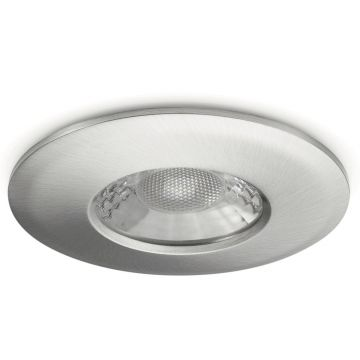 JCC V50 LED Fire Rated Downlight, Fixed Position, Wide Angled Beam, Tuneable White LED, Brushed Nickel