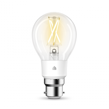 TP-Link Kasa LED Smart Wi-Fi GLS Bulb, Dimmable, 7W, B22, Warm White