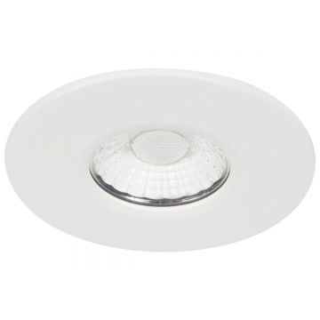 KSR Firebreak 10W COB LED Fire Rated Downlight, Fixed Position, Dimmable, Warm White LED, White