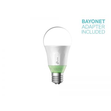 TP-Link LB110 LED Smart Wi-Fi GLS Bulb, Dimmable, 10W, E27, Warm White