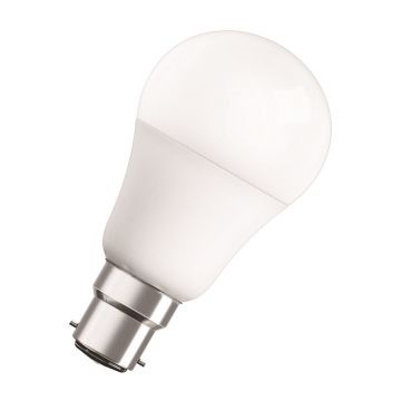 Osram LED Star Classic GLS Classic Bulb, B22d 8.5W Non-Dimmable, Warm White, Frosted